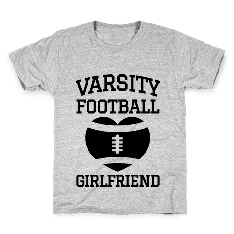 Varsity Football Girlfriend  Kids T-Shirt