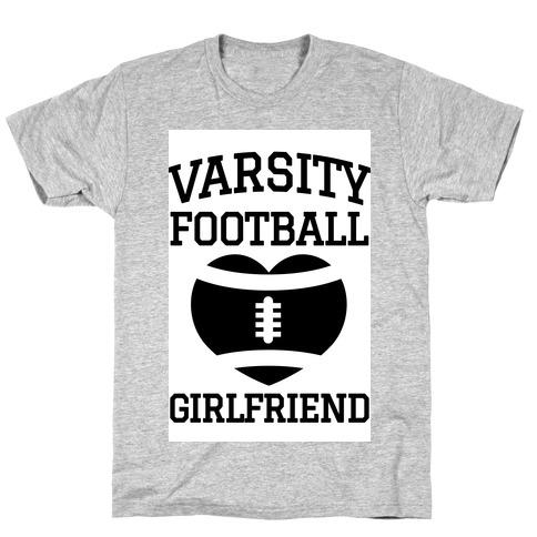 Varsity Football Girlfriend Mens/Unisex T-Shirt
