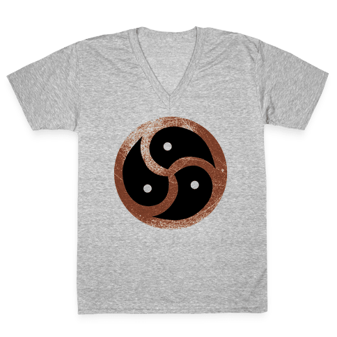 BDSM Logo V-Neck Tee Shirt