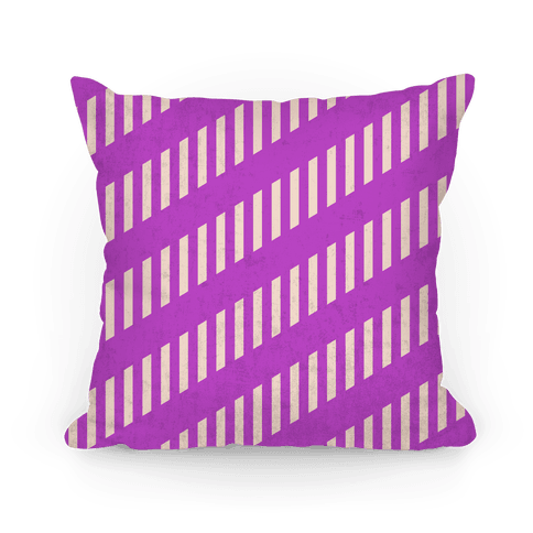 Purple Diagonal and Vertical Pillow