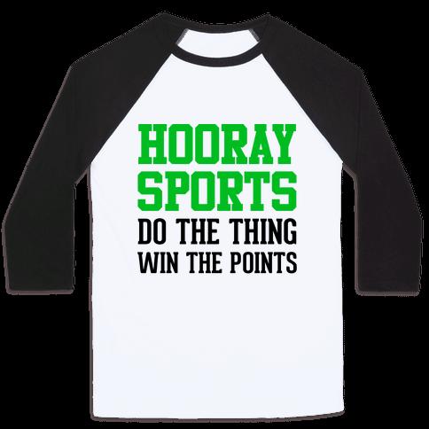 Hooray Sports (Green) Baseball Tee