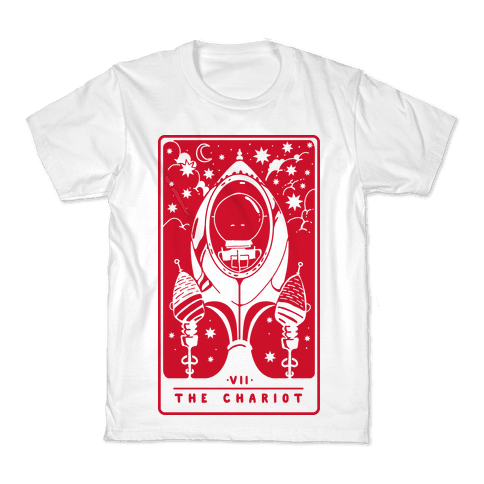 The Chariot Space Rocket Tarot Card Kids T-Shirt