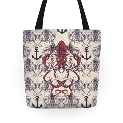 Kraken Tangle Pattern Tote