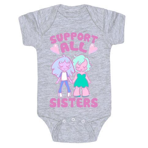 Support All Sisters Baby Onesy