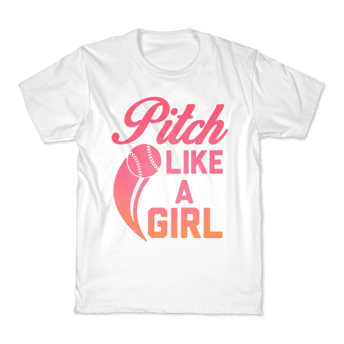 Pitch Like a Girl Kids T-Shirt