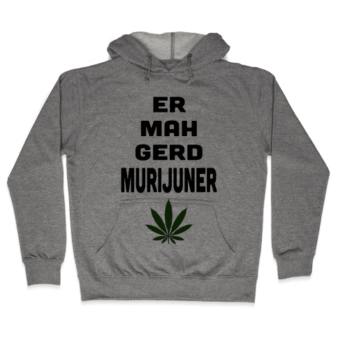 ERMAHGERD MURIJUNER (Tank) Hooded Sweatshirt