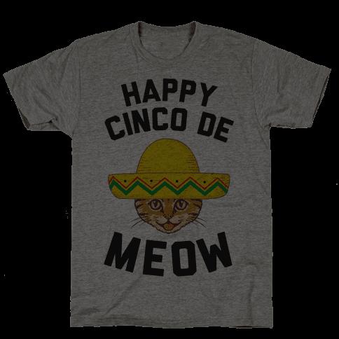 Cinco De Meow Mens T-Shirt