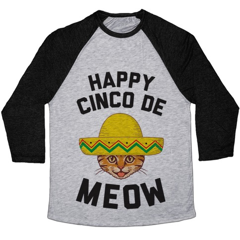 Cinco De Meow Baseball Tee