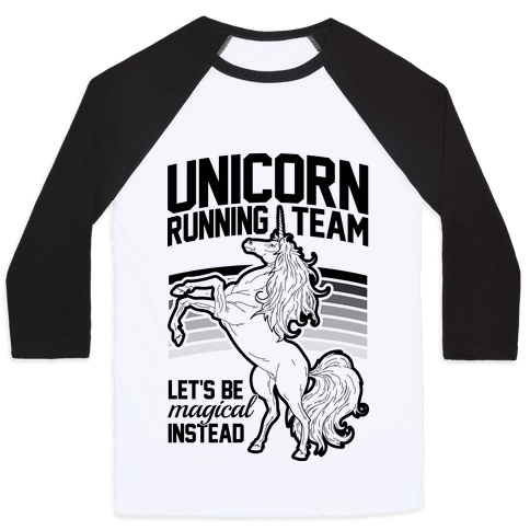 Unicorn Running Team Baseball Tee
