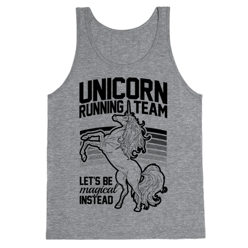 Unicorn Running Team Tank Top