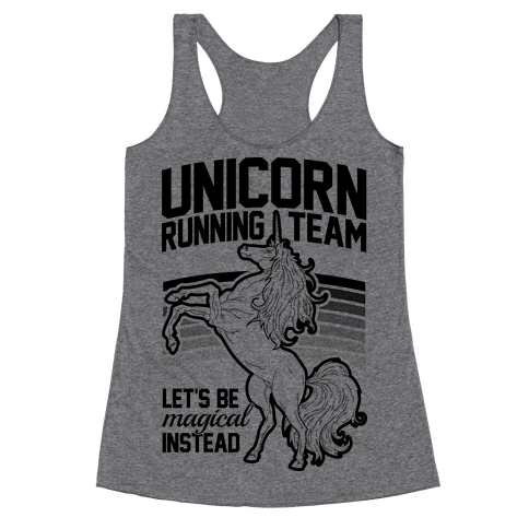 Unicorn Running Team Racerback Tank Top