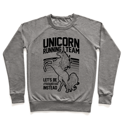Unicorn Running Team Pullover