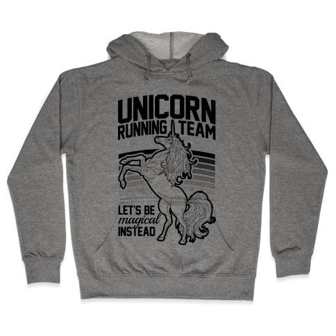Unicorn Running Team Hooded Sweatshirt