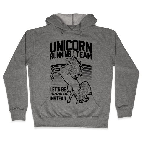 Unicorn Running Team Hooded Sweatshirt
