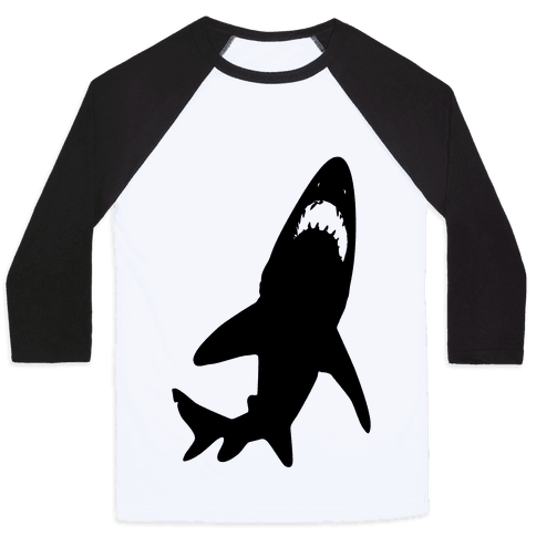 Stalking Shark Baseball Tee
