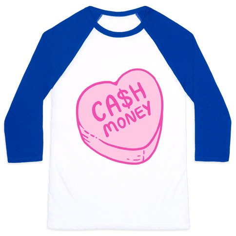 Cash Money Candy Heart Baseball Tee