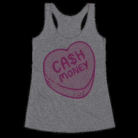 Cash Money Candy Heart Racerback Tank Top