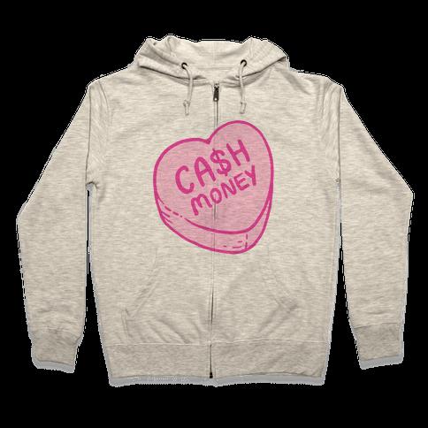 Cash Money Candy Heart Zip Hoodie