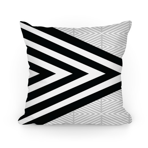 Large Geometric Diamond Pattern Pillow