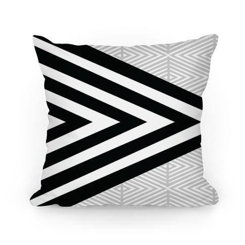 Large Geometric Diamond Pattern Pillow