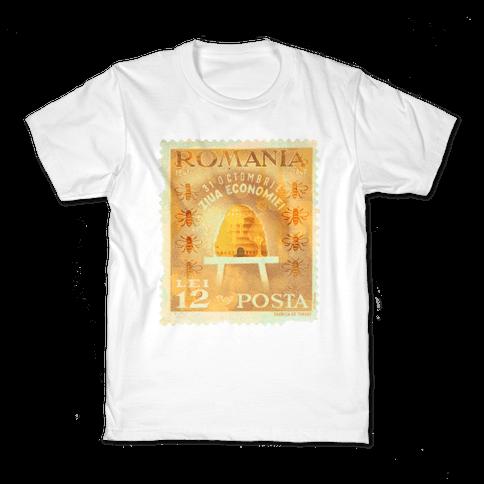 Romanian Bee Stamp Kids T-Shirt