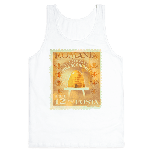 Romanian Bee Stamp Tank Top