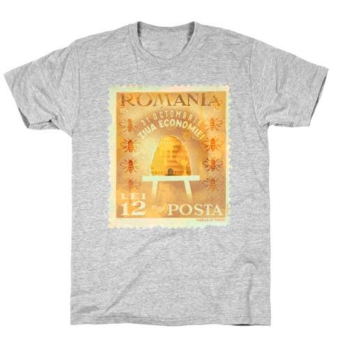 Romanian Bee Stamp T-Shirt