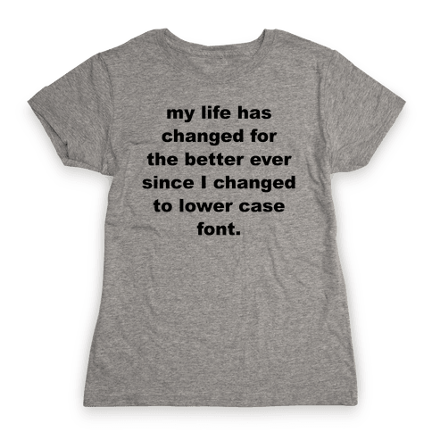 Lower Case Font Womens T-Shirt