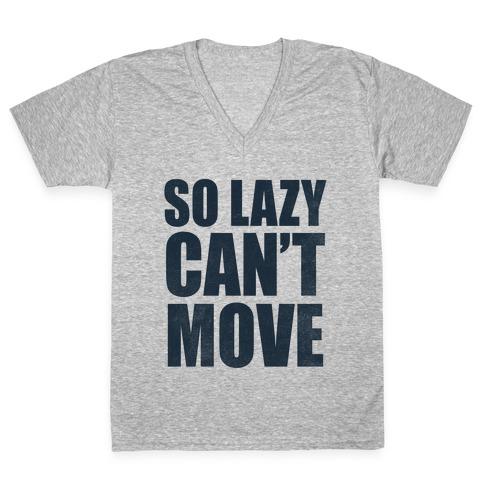 So Lazy V-Neck Tee Shirt