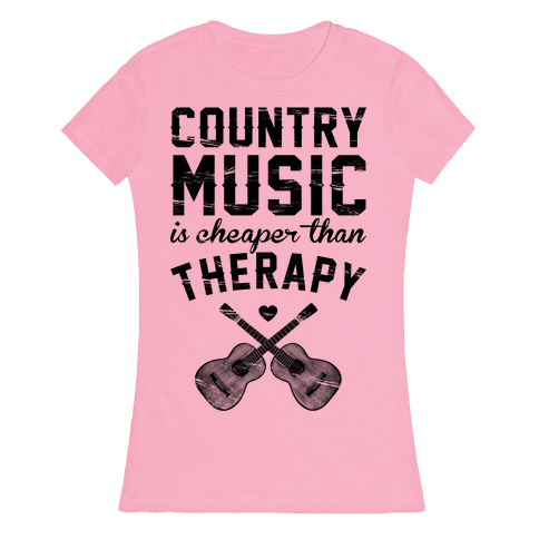 Country Music Therapy Womens T-Shirt