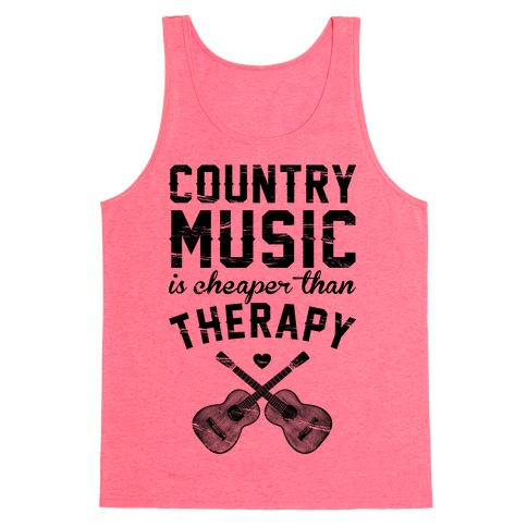 Country Music Therapy Tank Top