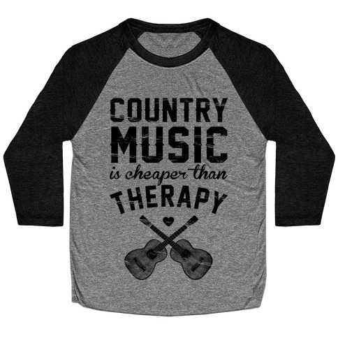 Country Music Therapy Baseball Tee