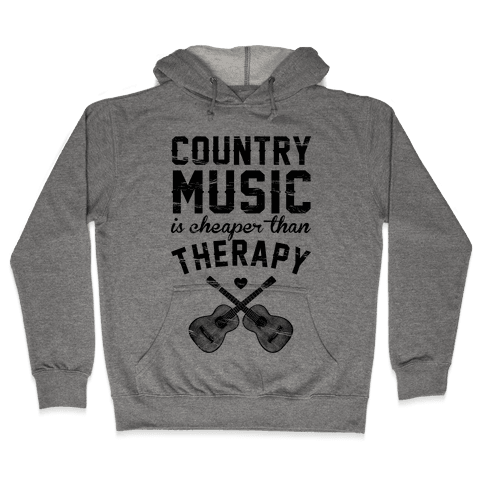 Country Music Therapy Hooded Sweatshirt