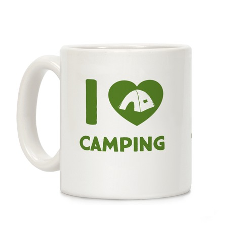 I Heart Camping Coffee Mug