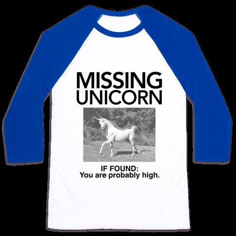 Missing Unicorn Baseball Tee