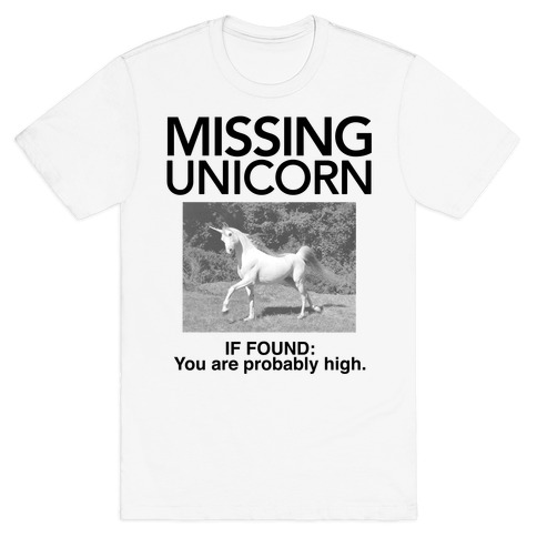 Missing Unicorn Mens T-Shirt