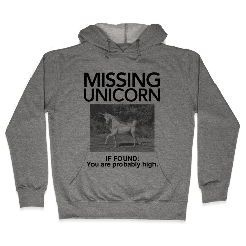 Missing Unicorn Hooded Sweatshirt