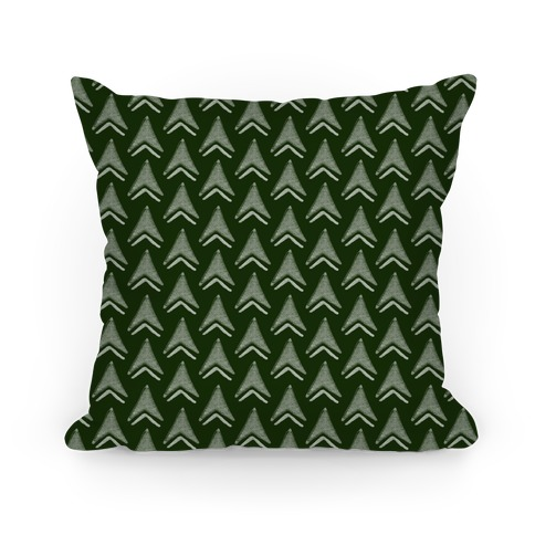Green Arrow Pattern Pillow