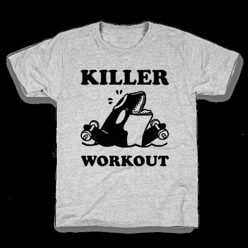 Killer Workout (Orca) Kids T-Shirt