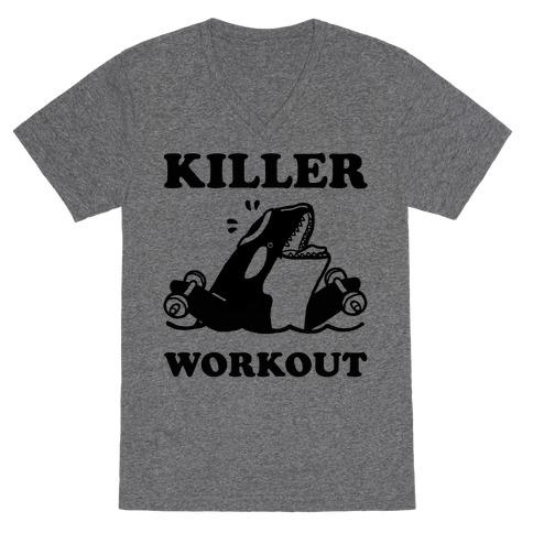 Killer Workout (Orca) V-Neck Tee Shirt