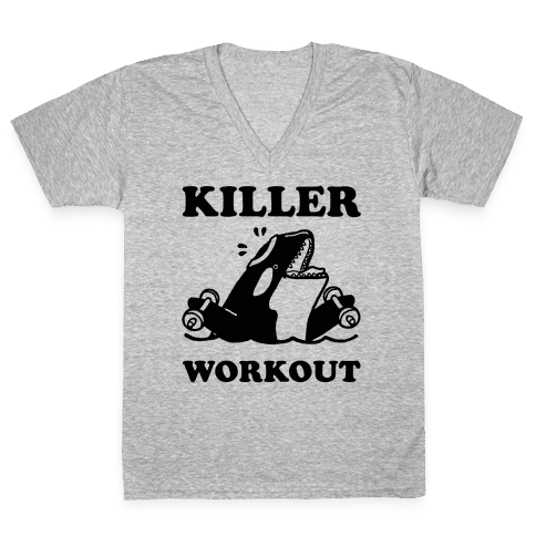 Killer Workout (Orca) V-Neck Tee Shirt