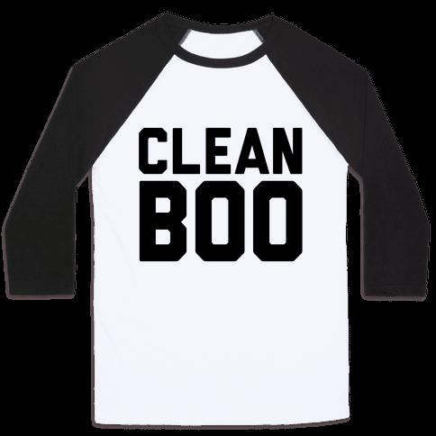 Clean Boo Baseball Tee