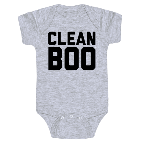 Clean Boo Baby Onesy