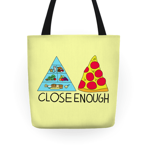 Pizza Pyramid (Close Enough) Tote