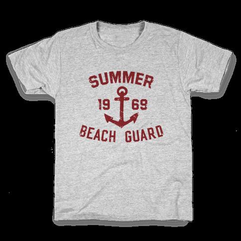 Summer Beach Guard Kids T-Shirt