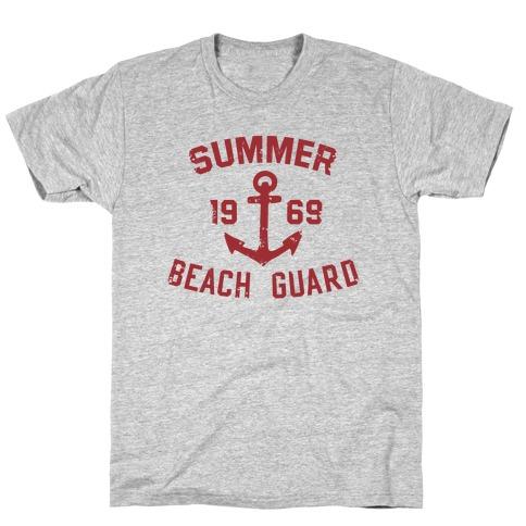 Summer Beach Guard Mens T-Shirt