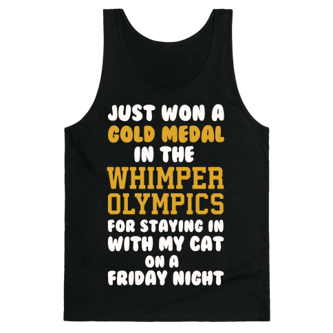 Whimper Olympics Gold Medalist Tank Top