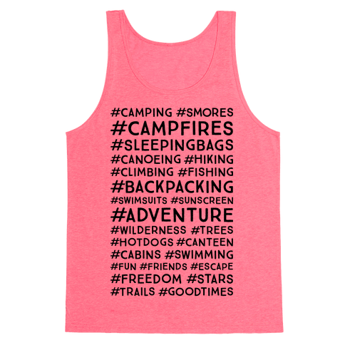 Outdoor Hastags Tank Top