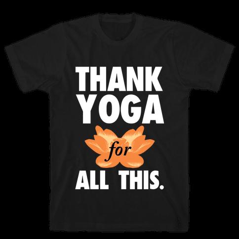 Thank Yoga Mens T-Shirt