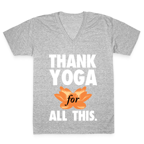 Thank Yoga V-Neck Tee Shirt